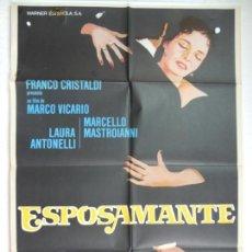 Cine: ESPOSAMANTE - POSTER CARTEL ORIGINAL - LAURA ANTONELLI MARCELLO MASTROIANNI MARCO VICARIO. Lote 170271252