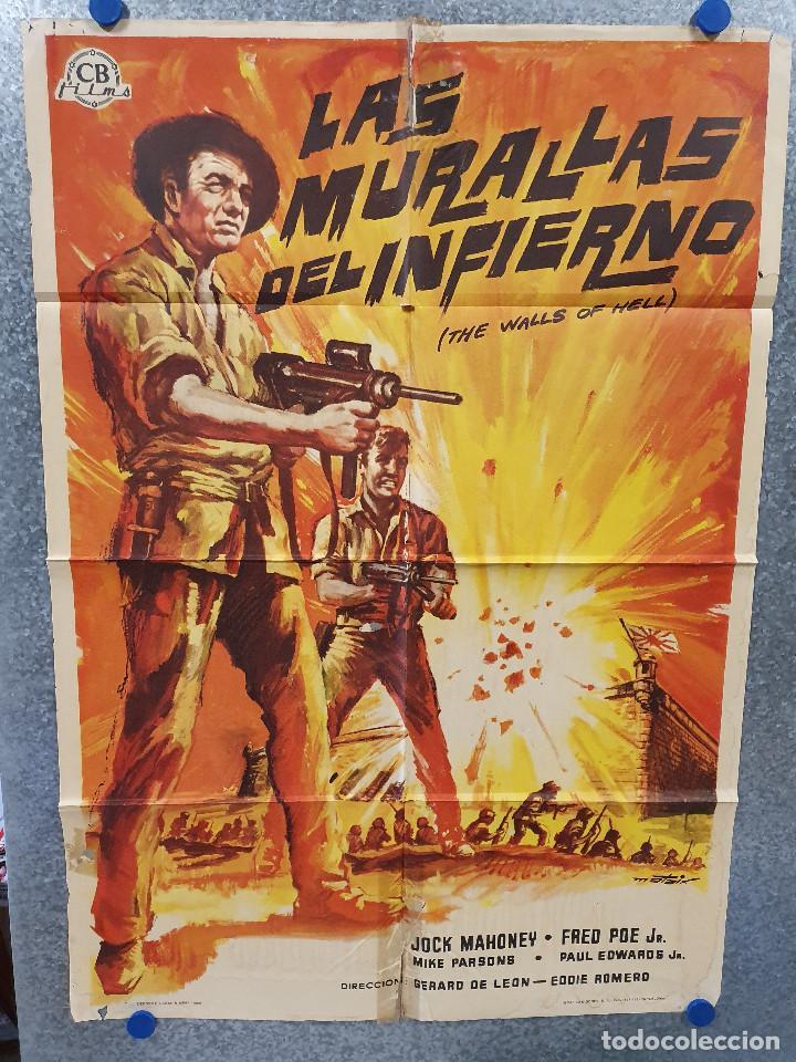 LAS MURALLAS DEL INFIERNO, INTRAMUROS. JOCK MAHONEY, FERNANDO POE JR. AÑO 1965. POSTER ORIGINAL (Cine - Posters y Carteles - Bélicas)