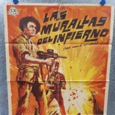 Cine: LAS MURALLAS DEL INFIERNO, INTRAMUROS. JOCK MAHONEY, FERNANDO POE JR. AÑO 1965. POSTER ORIGINAL. Lote 170301388