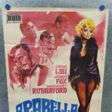 Cine: ARABELLA. VIRNA LISI, JAMES FOX, MARGARET RUTHEFORD AÑO 1968 POSTER ORIGINAL. Lote 170304192