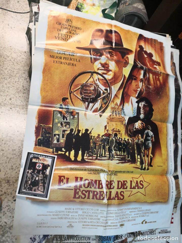 CARTEL POSTER EL HOMBRE DE LAS ESTRELLAS MÁS REGALO PROGRAMA DE CINE (Cine - Posters y Carteles - Bélicas)