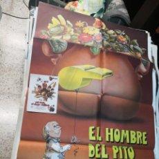 Cine: PÓSTER DE CINE ORIGINAL EL HOMBRE DEL PITO MÁGICO MÁS REGALO PROGRAMA DE CINE. Lote 170315056