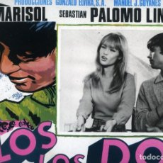 Cine: CARTELERA MEJICANA DE LA PELÍCULA DE MARISOL 'SOLOS LOS DOS CON PALOMO LINARES. 38X29 CMS.. Lote 170316608