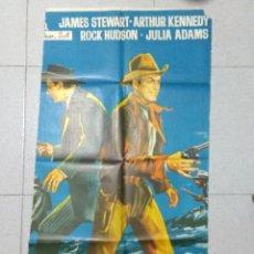 Cine: HORIZONTES LEJANOS - CARTEL CINE ORIGINAL JAMES STEWART - ARTHUR KENNEDY - ROCK HUDSON - JULIA ADAMS. Lote 170453528
