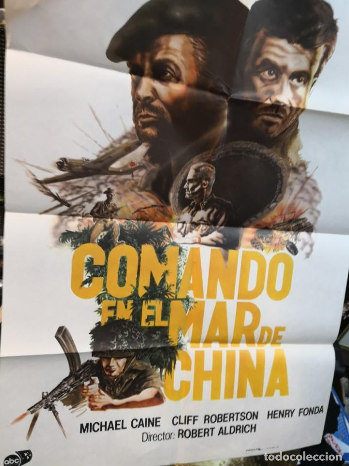 Cine: CARTEL DE CINE- MOVIE POSTER. COMANDO EN EL MAR DE China. Más regalo programa de cine - Foto 2 - 170868865