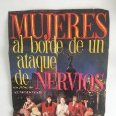 Cine: ALMODÓVAR - PÓSTER MUJERES AL BORDE DE UN ATAQUE DE NERVIOS. Lote 170906427