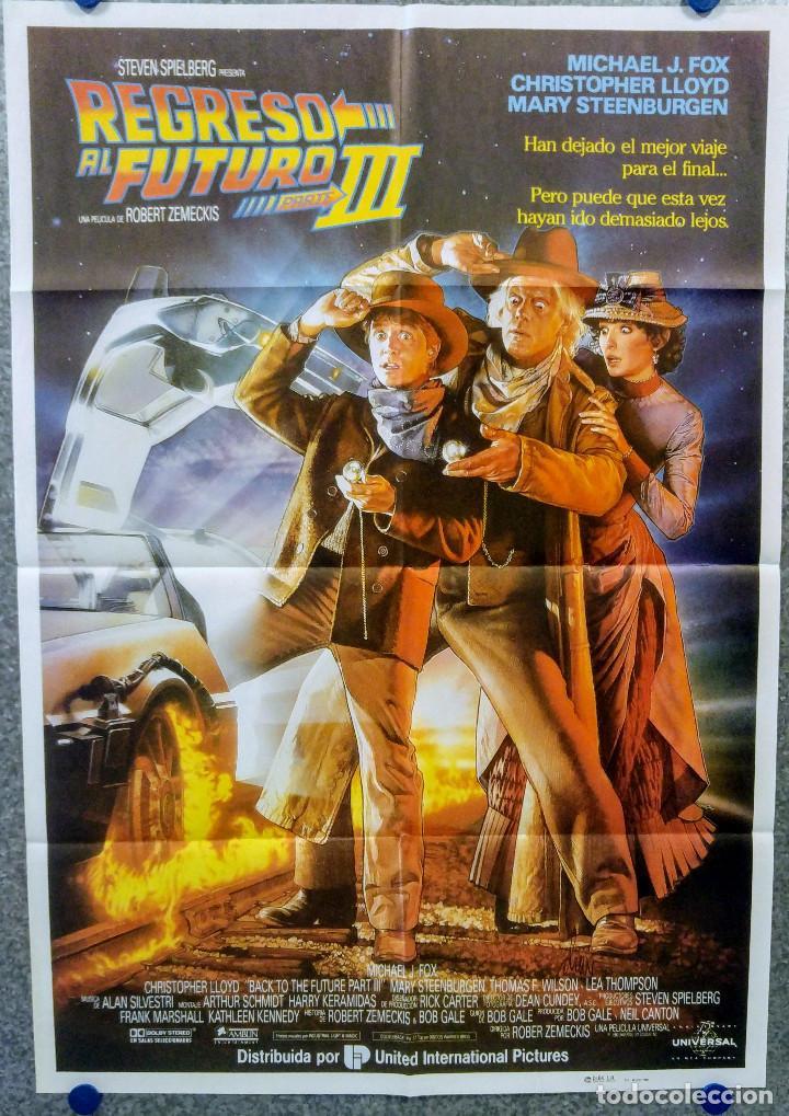 REGRESO AL FUTURO III. MICHAEL J. FOX. POSTER ORIGINAL. AÑO 1990 (Cine - Posters y Carteles - Ciencia Ficción)