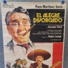 Cine: EL ALEGRE DIVORCIADO. PACO MARTÍNEZ SORIA, FLORINDA CHICO, NORMA LAZAREN AÑO 1975 . POSTER ORIGINAL. Lote 171048472