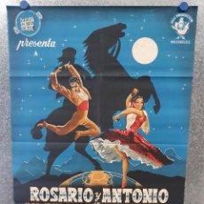 Cine: EL REY DE SIERRA MORENA. ROSARIO Y ANTONIO, MARUJITA DIAZ . ESPECTACULAR POSTER ORIGINAL LITOGRAFIA. Lote 171049820