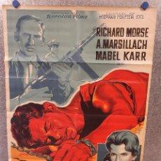 Cine: UN HECHO VIOLENTO. RICHARD MORSE, ADOLFO MARSILLACH AÑO 1959. POSTER ORIGINAL LITOGRAFICO SOLIGÓ. Lote 171050977
