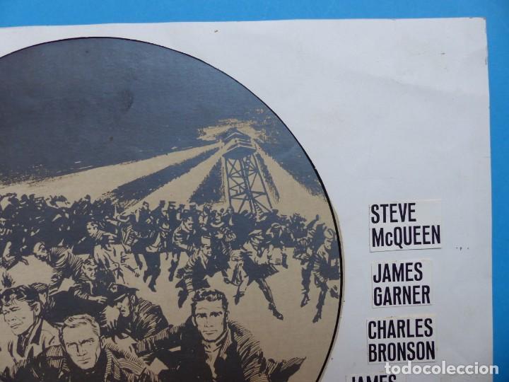 Cine: LA GRAN EVASION, STEVE McQUEEN, CHARLES BRONSON - PRUEBA DE IMPRENTA POR MONTALBAN - AÑOS 1960-70 - Foto 5 - 171092659