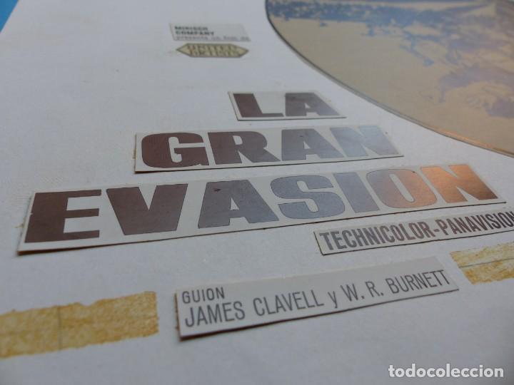 Cine: LA GRAN EVASION, STEVE McQUEEN, CHARLES BRONSON - PRUEBA DE IMPRENTA POR MONTALBAN - AÑOS 1960-70 - Foto 7 - 171092659