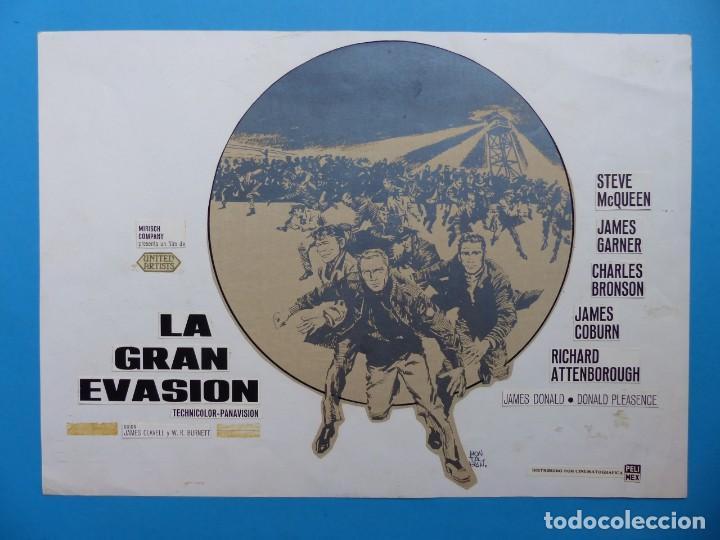 LA GRAN EVASION, STEVE MCQUEEN, CHARLES BRONSON - PRUEBA DE IMPRENTA POR MONTALBAN - AÑOS 1960-70 (Cine - Posters y Carteles - Bélicas)