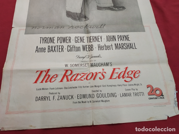 Cine: THE RAZORS EDGE - CARTEL / POSTER / FOLLETO DEL ESTRENO MUNDIAL - EL FILO DE LA NAVAJA - 1946 - Foto 5 - 171119264