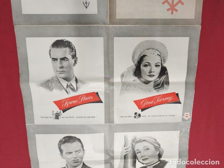 Cine: THE RAZORS EDGE - CARTEL / POSTER / FOLLETO DEL ESTRENO MUNDIAL - EL FILO DE LA NAVAJA - 1946 - Foto 14 - 171119264