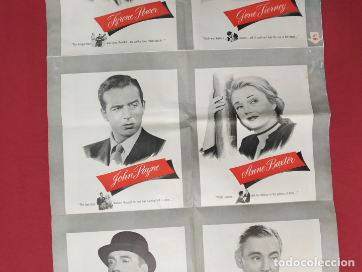 Cine: THE RAZORS EDGE - CARTEL / POSTER / FOLLETO DEL ESTRENO MUNDIAL - EL FILO DE LA NAVAJA - 1946 - Foto 15 - 171119264