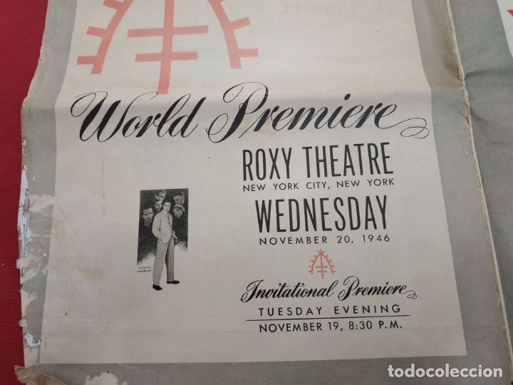 Cine: THE RAZORS EDGE - CARTEL / POSTER / FOLLETO DEL ESTRENO MUNDIAL - EL FILO DE LA NAVAJA - 1946 - Foto 19 - 171119264