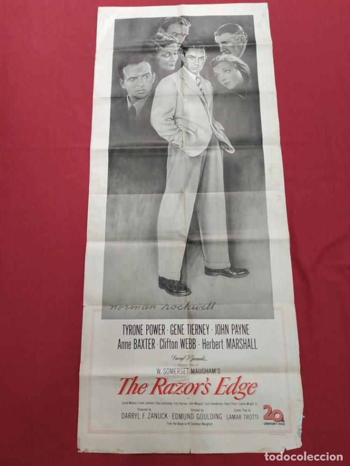 THE RAZOR'S EDGE - CARTEL / POSTER / FOLLETO DEL ESTRENO MUNDIAL - EL FILO DE LA NAVAJA - 1946 (Cine- Posters y Carteles - Drama)