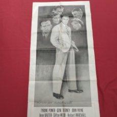 Cine: THE RAZOR'S EDGE - CARTEL / POSTER / FOLLETO DEL ESTRENO MUNDIAL - EL FILO DE LA NAVAJA - 1946. Lote 171119264