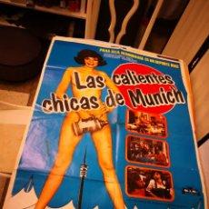 Cine: 3 CARTELES POSTER DE CINE. LAS CALIENTES CHICAS DE MUNICH, LAS JUEGAS DE EL SEÑORITO Y CALOR Y CELOS. Lote 171136360