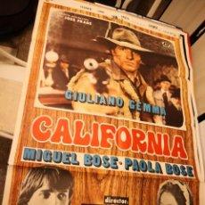 Cine: CARTEL POSTER DE CINE CALIFORNIA. MIGUEL BOSE Y PAOLA BOSE. Lote 171136948