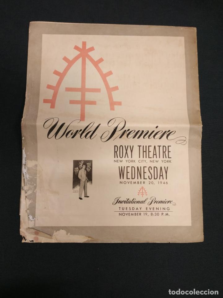 Cine: THE RAZORS EDGE - CARTEL / POSTER / FOLLETO DEL ESTRENO MUNDIAL - EL FILO DE LA NAVAJA - 1946 - Foto 25 - 171119264