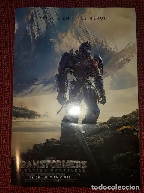 Cine: Poster Transformers - El ultimo caballero Una pelicula de Michael Bay 41 x 29 cm en buen estado - Foto 2 - 171167963