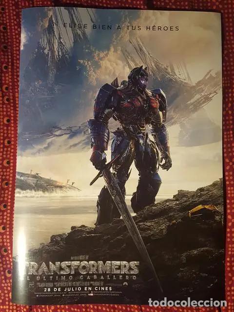 Cine: Poster Transformers - El ultimo caballero Una pelicula de Michael Bay 41 x 29 cm en buen estado - Foto 3 - 171167963