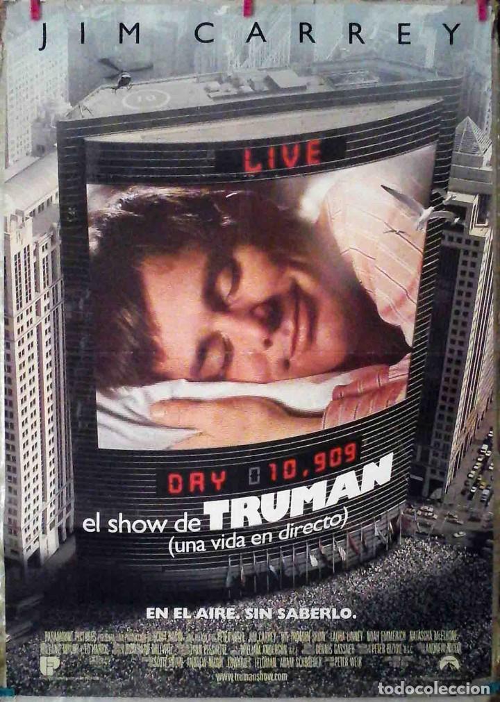 ORIGINALES DE CINE: EL SHOW DE TRUMAN (JIM CARREY) 70X100 CMS. (Cine - Posters y Carteles - Comedia)