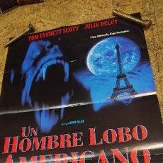 Cine: AFICHE CARTEL DE CINE UN HOMBRE LOBO AMERICANO EN PARÍS . Lote 171256902