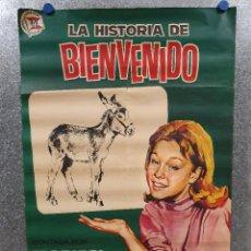 Cine: LA HISTORIA DE BIENVENIDO. MARISOL. AÑO 1964. CIRCO. POSTER ORIGINAL. Lote 171297570