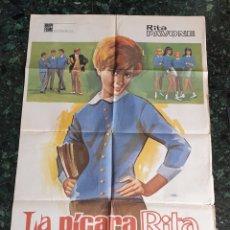 Cine: POSTER ORIGINAL LA PICARA RITA (1967) RITA PAVONE. Lote 171418290