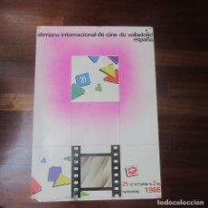 Cine: CARTEL SEMANA INTERNACIONAL DE CINE DE VALLADOLID 70 X 50 CM. Lote 171520535