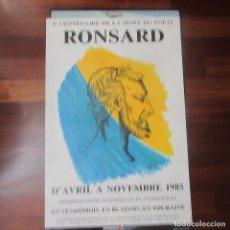 Cine: CARTEL CENTENARIO DE LA MUERTE DEL POETA RONSARD 1985 64 X 43 CM. Lote 171521215