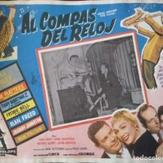 Cine: CARTEL-ANUNCIO DEL FILM DE FRED F. SEARS 'ROCK AROUND THE CLOCK' (1956) 42X32,5 CMS.. Lote 171704169