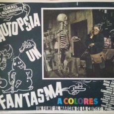 Cine: CARTEL-ANUNCIO DEL FILM 'AUTOPSIA DE UN FANTASMA' (1968) CON BASIL RATHBONE, JOHN CARRADINE.. Lote 171706600