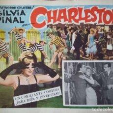 Cine: CARTEL-ANUNCIO DE LA PELÍCULA CHARLESTON (1959) DE TULIO DEMICHELI CON SILVIA PINAL. 42X33CM.. Lote 171708472