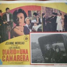 Cine: LUIS BUÑUEL. CARTEL-ANUNCIO DE 'DIARIO DE UNA CAMARERA' (1964). FILM CON JEANNE MOREAU. 43X33 CMS.. Lote 171710087