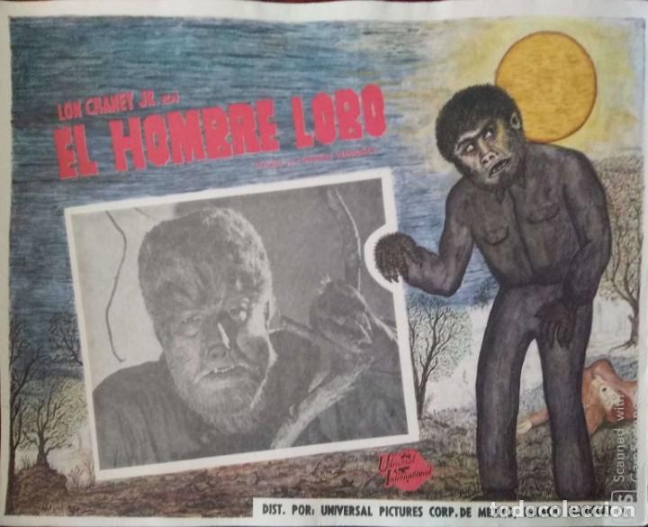 CARTEL-ANUNCIO DEL FILM 'EL HOMBRE LOBO' (SON OF FRANKENSTEIN) CON LON CHANEY JR. 42X33 CMS. (Cine - Posters y Carteles - Terror)