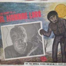 Cine: CARTEL-ANUNCIO DEL FILM 'EL HOMBRE LOBO' (SON OF FRANKENSTEIN) CON LON CHANEY JR. 42X33 CMS.. Lote 171710793