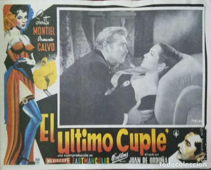 SARA MONTIELCARTEL-ANUNCIO DE LA PELÍCULA 'EL ÚLTIMO CUPLÉ' DE JUAN DE ORDUÑA (1957) 42X32 CMS. (Cine- Posters y Carteles - Drama)