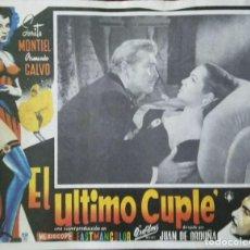 Cine: SARA MONTIELCARTEL-ANUNCIO DE LA PELÍCULA 'EL ÚLTIMO CUPLÉ' DE JUAN DE ORDUÑA (1957) 42X32 CMS.. Lote 171712472