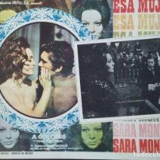 Cine: SARA MONTIEL. CARTEL-ANUNCIO DE LA PELÍCULA 'ESA MUJER' DE MARIO CAMUS (1969). 34X26 CMS.. Lote 171727898
