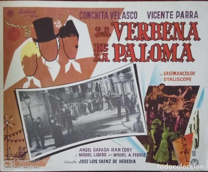 CARTEL-ANUNCIO DE 'LA VERBENA DE LA PALOMA' (1963) CON CONCHITA VELASCO Y VICENTE PARRA 36X28 CMS. (Cine - Posters y Carteles - Clasico Español)