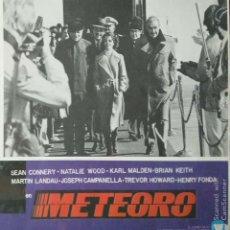Cine: CARTEL ANUNCIO DEL FILM 'METEORO'' (1979) CON SEAN CONNERY, NATALIE WOOD, HENRY FONDA... 40 X30 CMS.. Lote 171732143