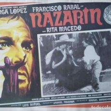 Cine: LUIS BUÑUEL CARTEL-ANUNCIO DEL FILM 'NAZARÍN' (1959) CON FRANCISCO RABAL Y RITA MACEDO 43X33 CMS. . Lote 171733547