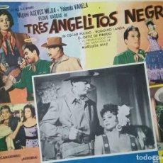 Cine: ANUNCIO-CARTEL DEL FILM 'TRES ANGELITOS NEGROS' MIGUEL ACEVES MEJÍAS,PEDRO VARGAS Y MARUJITA DÍAZ. Lote 171734884