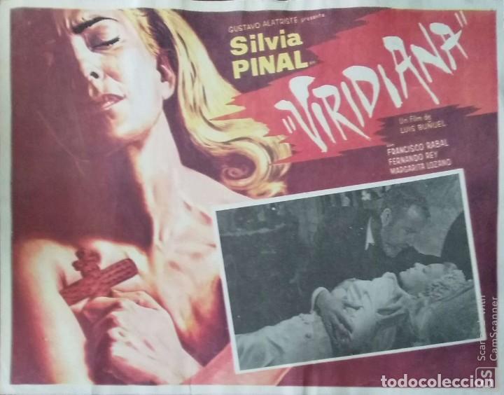 LUIS BUÑUEL. CARTEL-ANUNCIO DE 'VIRIDIANA' (1961). SILVIA PINAL-PACO RABAL-FERNANDO REY. 43X33 CMS. (Cine - Posters y Carteles - Clasico Español)
