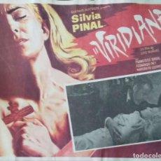 Cine: LUIS BUÑUEL. CARTEL-ANUNCIO DE 'VIRIDIANA' (1961). SILVIA PINAL-PACO RABAL-FERNANDO REY. 43X33 CMS. . Lote 171735279