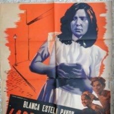 Cine: CARTEL CINE , LADRONZUELA 1946 , JUANINO , BLANCA ESTEL PAVON , ORIGINAL . Lote 172079753